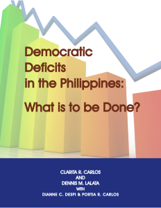 Democratic Deficits In The Philippines Issues And Challenges