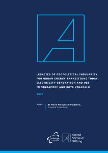 LEGACIES OF GEOPOLITICAL INSULARITY FOR URBAN ENERGY
