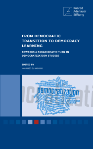 From Democratic Transition To Democracy Learning