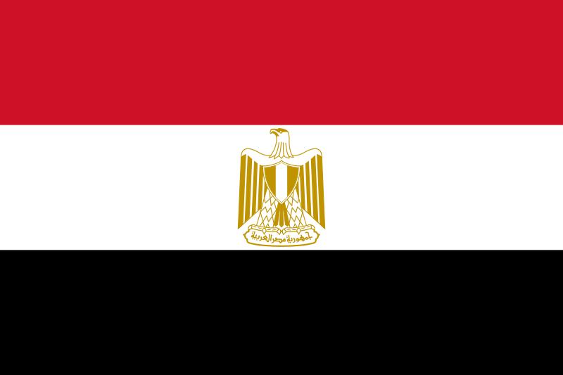 Flagge Ägyptens
