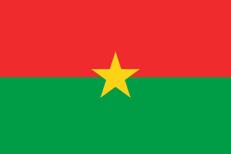Flagge von Burkina Faso