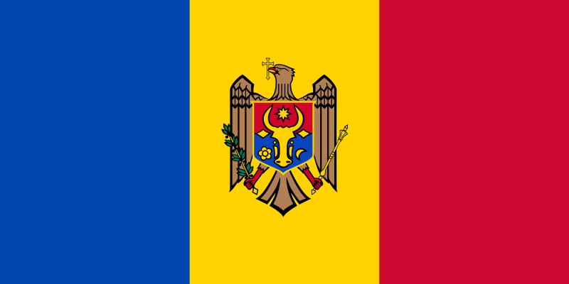 Flagge der Republik Moldau