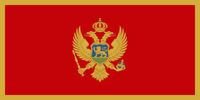 Flagge Montenegros