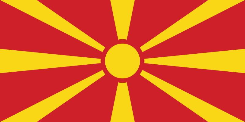 Flagge Nordmazedoniens