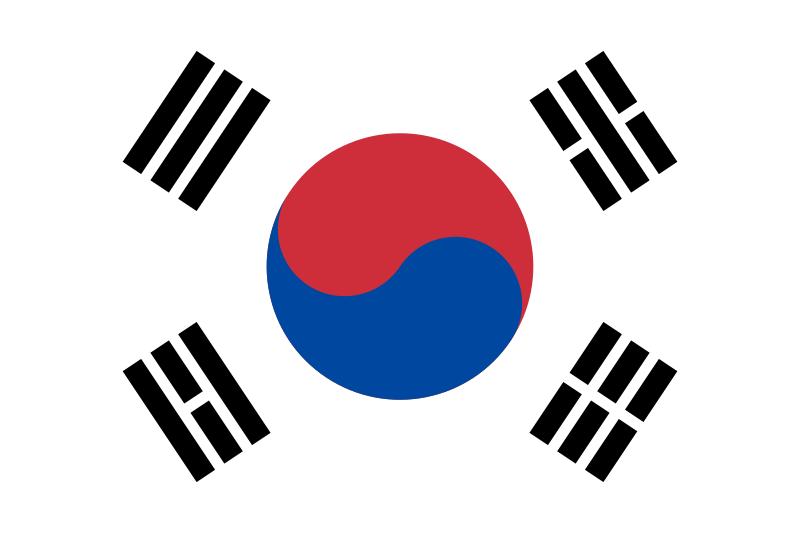 Flagge Südkoreas