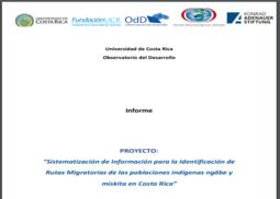 Rutas migratorias de las poblaciones indígenas ngäbe y miskita en Costa Rica
