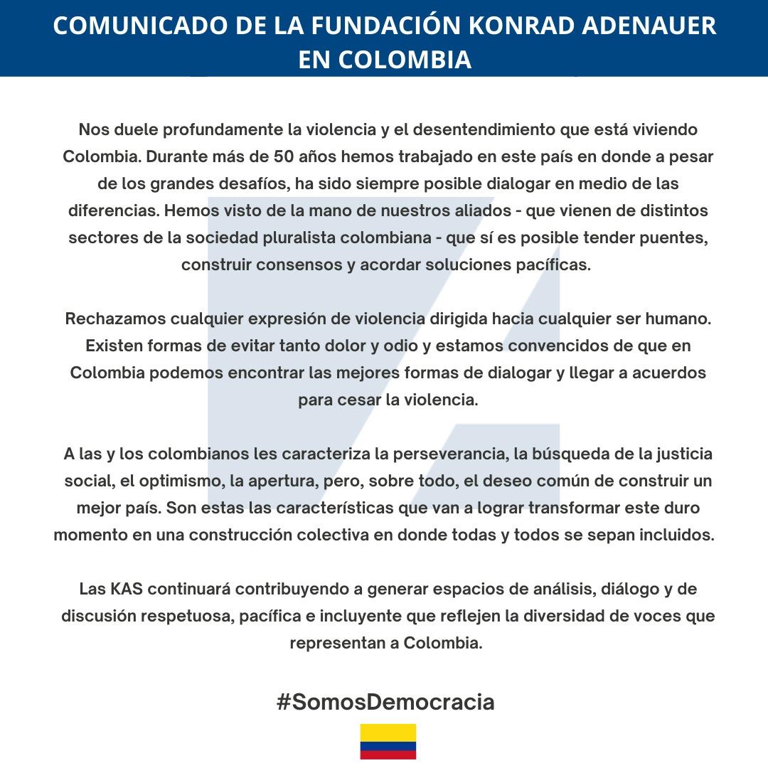 Comunicado KAS Colombia