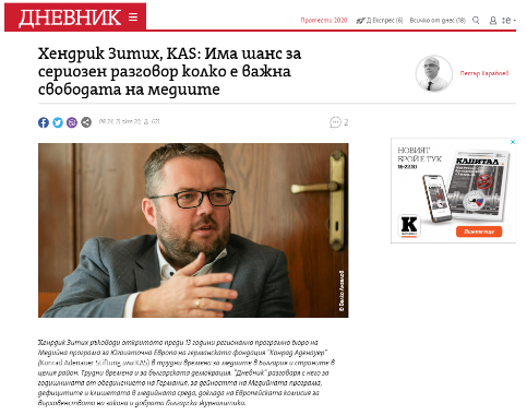 Sittig Interview Dnevnik Cover Photo
