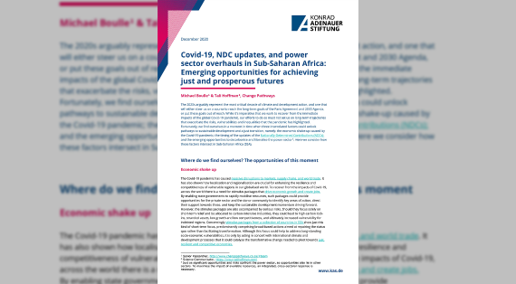Cover – Covid-19, NDC updates, and power sector overhauls in Sub-Saharan Africa