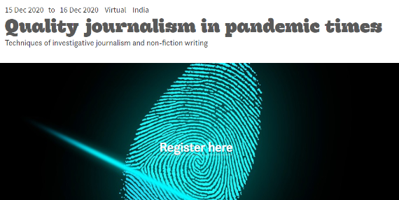 Workshop on Techniques of Investigative and Non-Fiction Writing