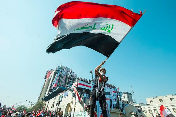 Iraqi Flag during October 2019 Protests
