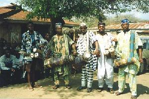 Yoruba Men with Drums