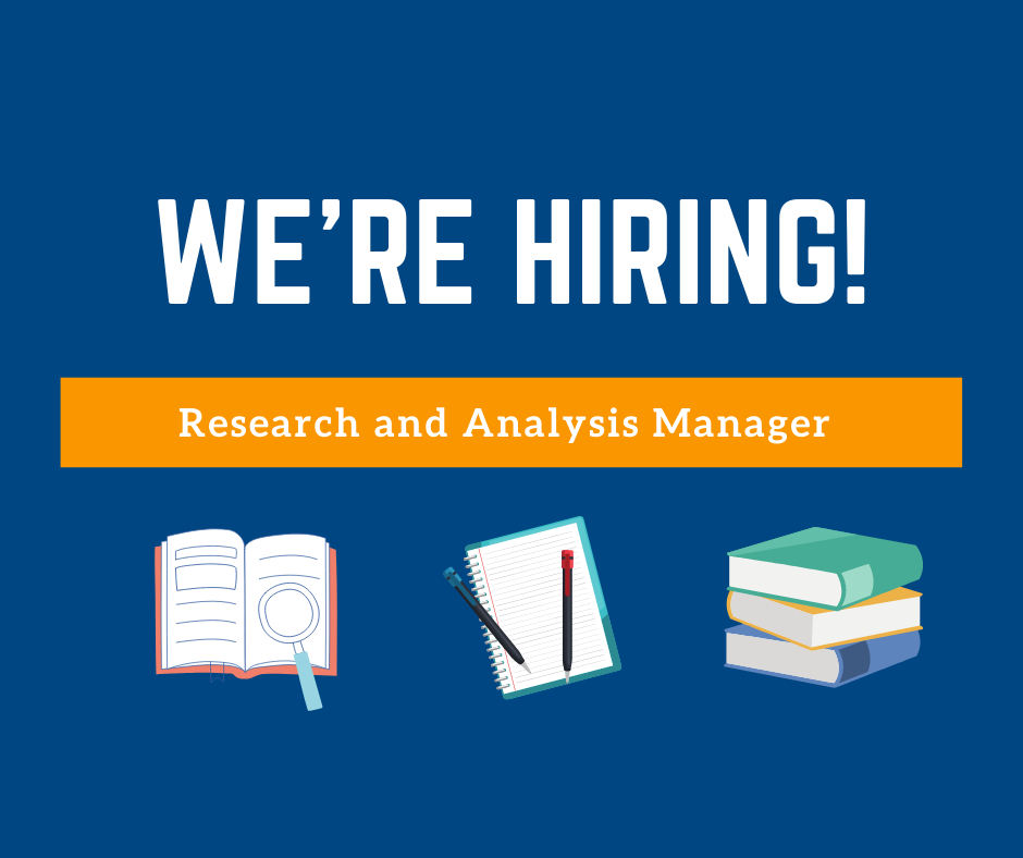 Job Offer - Research and Analysis Manager