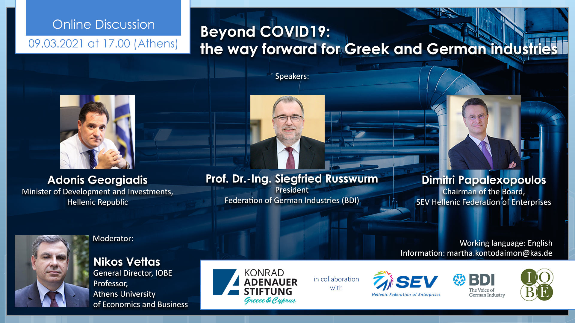 Beyond Covid19 The Way Forward For Greek And German Industries