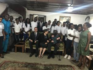 scholars with former Prez Kufuor