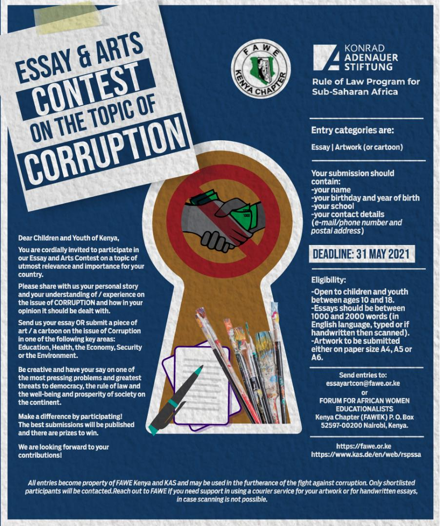 Essay and Arts Contest on Corruption