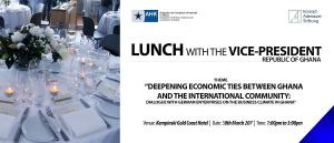 invitation Card to business lunch with vizepresident Dr. Bawumia, 30st of March 17