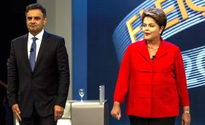 Aécio Neves und Dilma Rousseff | Foto: dpa