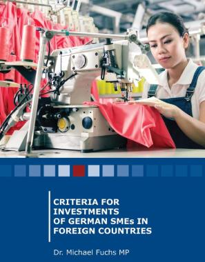 Criteria for Investments of German SMEs in Foreign Countries (Cover)