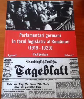 Parlamentari germani in forul legislativ al Romaniei (1919-1929) (Cover)