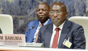 H.E. Mr. Mahamudu Bawumia, Vice-President of Ghana, taking part in a session of the United Nations Conference on Trade and Development, 13. Sept. 2017. | © UNCTAD / Flickr CC BY-SA 2.0