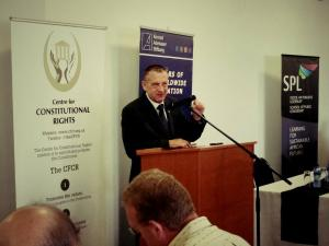 Prof Erwin Schwella at the Breakfast Discussion