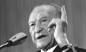 Konrad Adenauer speaking