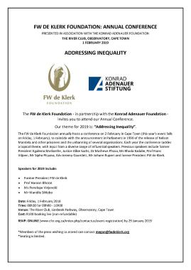 Invitation: Addressing Inequality - Annual Conference