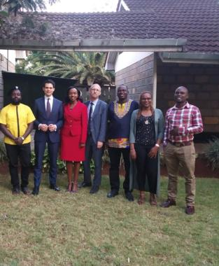 Dr. Ploss and Dr. Cernicky with Kenya's young politicians