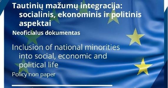 Cover Inclusion of national minorities into social, economic and political life