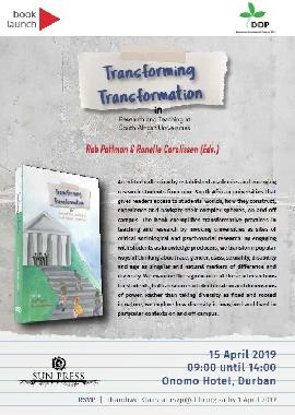Book Launch: Transforming Transformation (DDP)