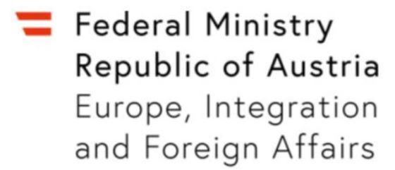 Logo Federal Ministry for Europe, Integration and Foreign Affairs of THe Republik of Austria