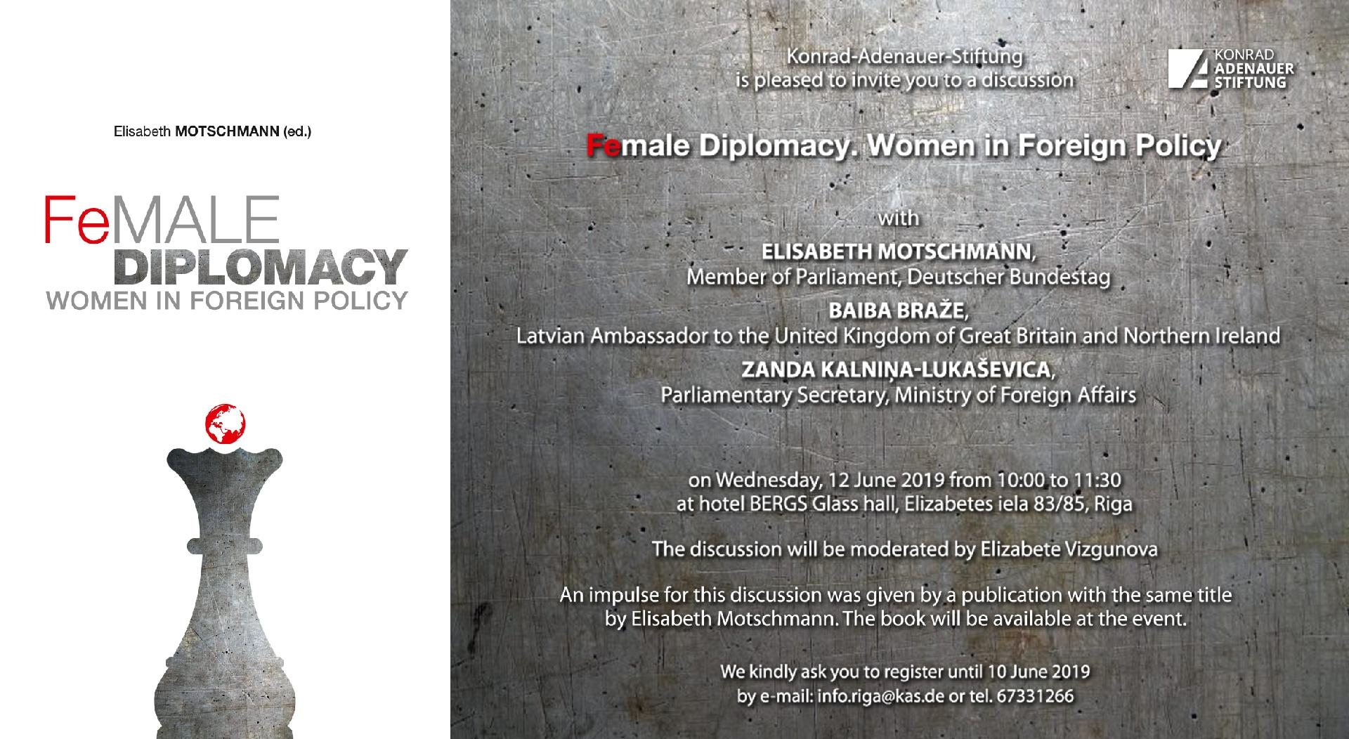 "Diskussion ""Female Diplomacy. Women in Foreign Policy"""