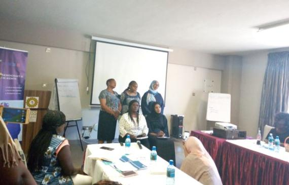 Improving the capacities of nominated women MCAs from the Coast Region of Kenya