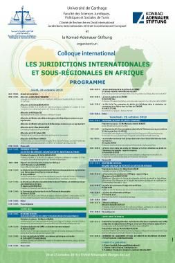 Confénrence Juridictions Internationales