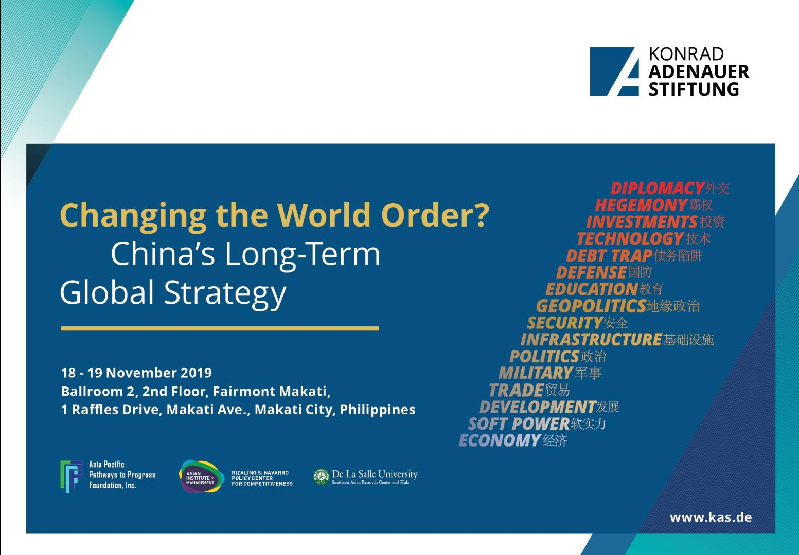 Changing the World Order? China's Long-Term Global Strategy