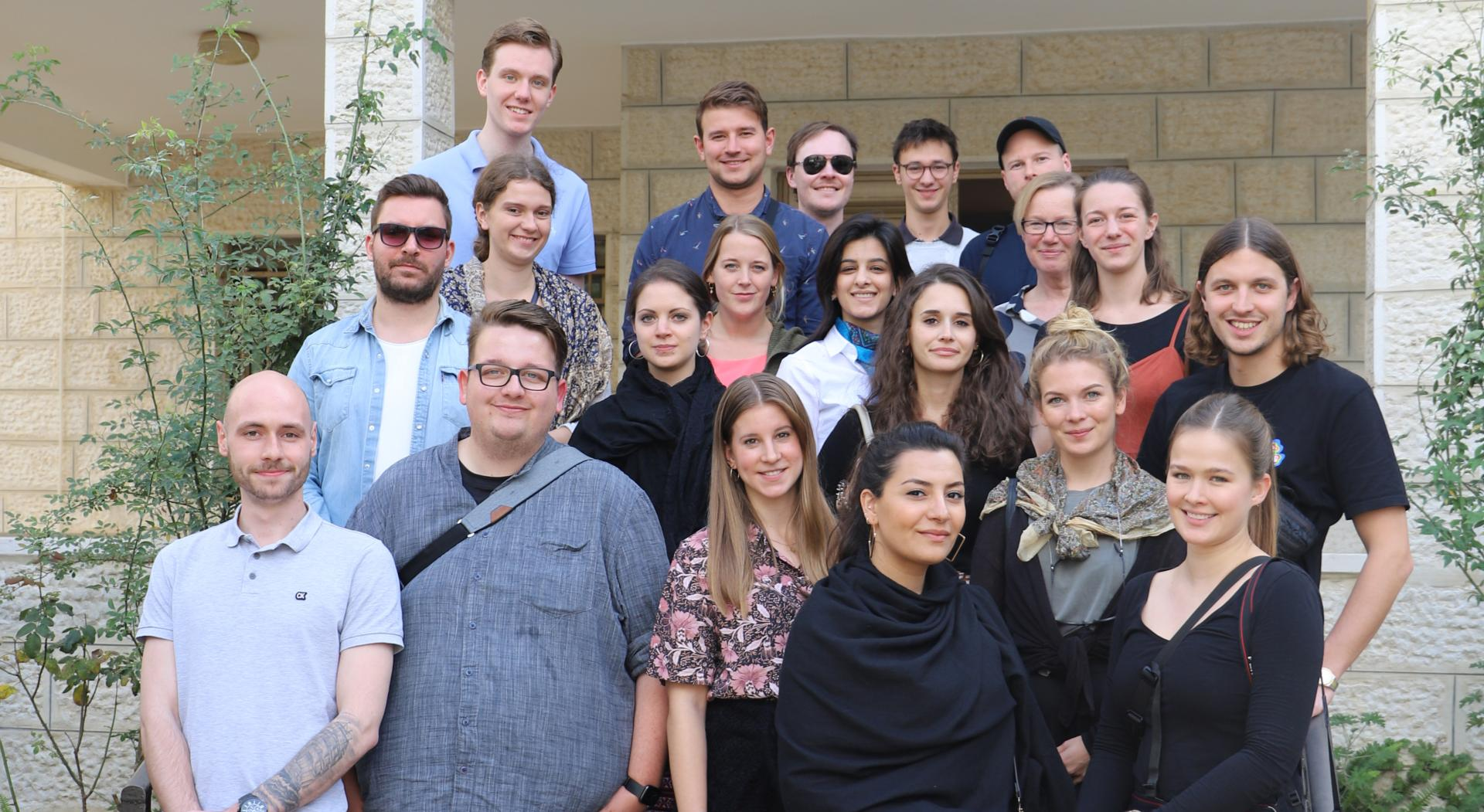 Group picture with the Axel Springer Academy