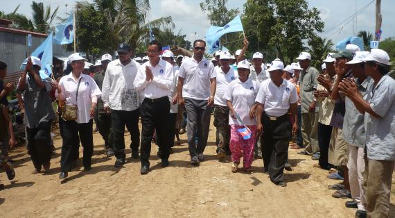Sam Rainsy in Kambodscha