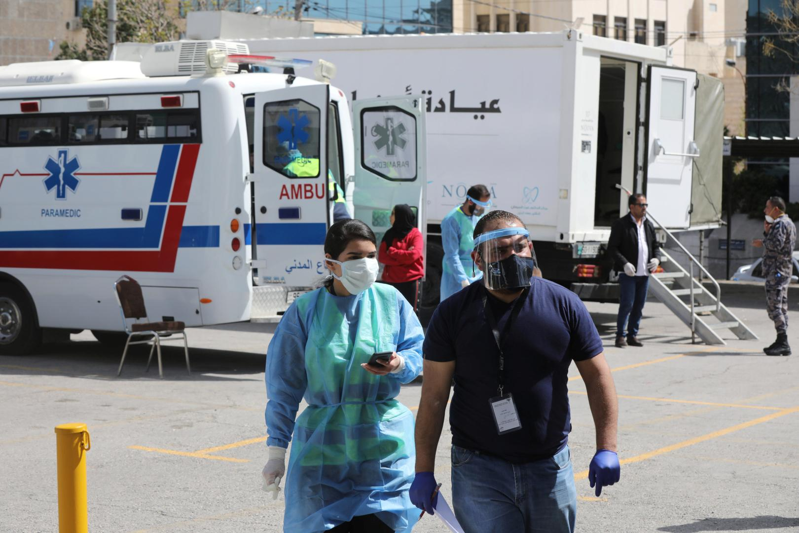 Initiative provides Jordanians with field medical services amid concerns over the coronavirus disease...