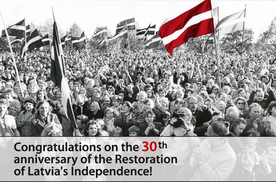 The Declaration of Restoration of the Independence of the Republic of Latvia