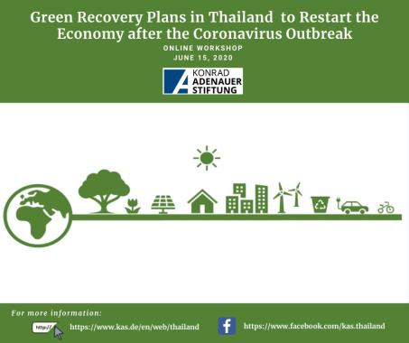 Poster for Event Report of Green Recovery Workshop on 15 June