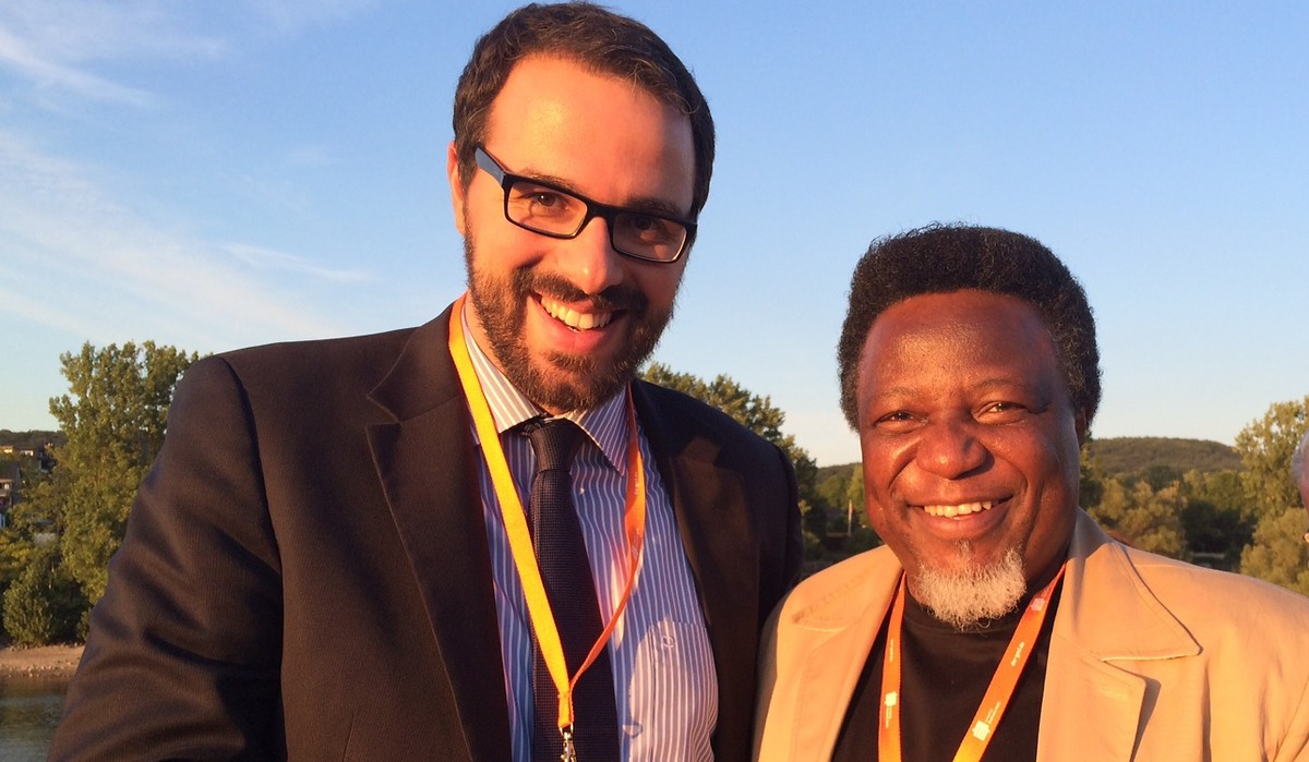 Christian Echle (Director, KAS Media Africa) and Eric Chinje (CEO, African Media Initative)