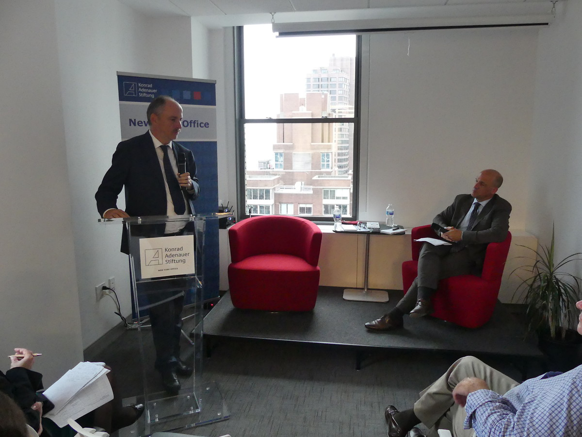 Mr. Klaus Welle, Secretary-General of the European Parliament, outlining his vision of the European Union in a speech at the KAS New York Office