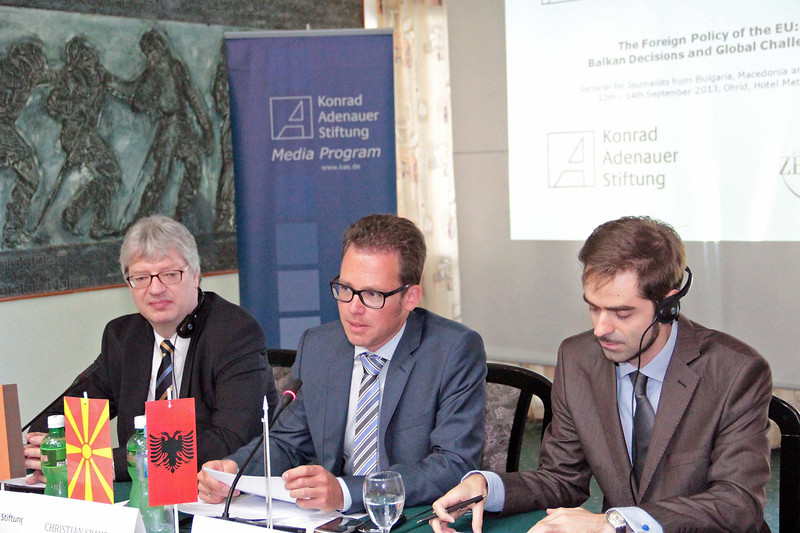 Seminar for journalists from Bulgaria, Albania and Macedonia on current European foreign policy topics