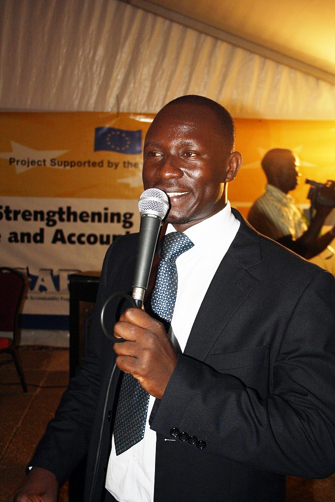 Moses Egunyu, KAS Project Assistant and moderator of the event