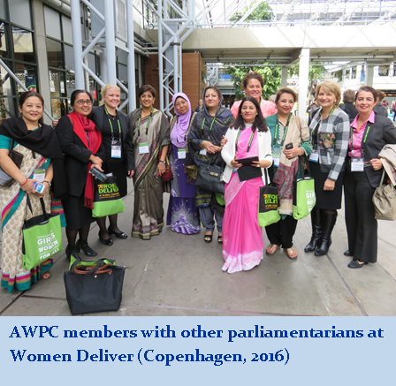 AWPC Members with other parliamentarians at Women Deliver