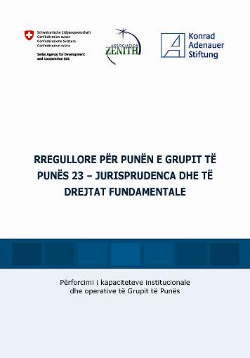 Cover: RULES OF PROCEDURE OF THE WORKING GROUP 23 – JUDICIARY AND FUNDAMENTAL RIGHTS (Albanian version)