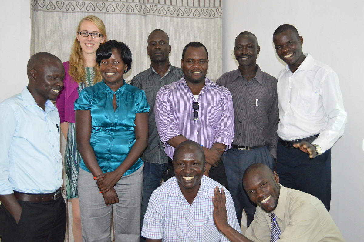 The scholarship holders from South Sudan with Ms. Anna Hoffmann, the scholarship coordinator on the side of KAS.