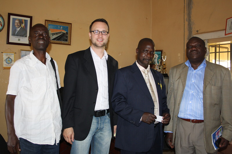 Pre-visit in Arua: meeting with the district chairman
