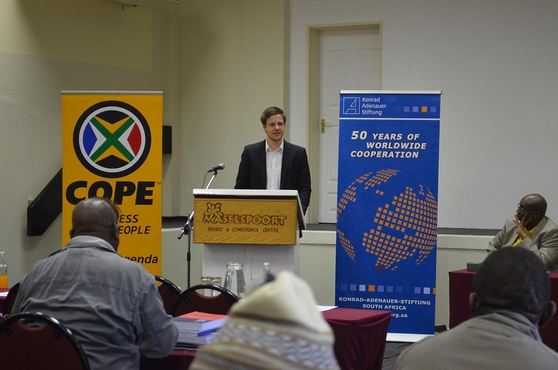 Workshop für Mitglieder des Congress of the People (COPE), Bloemfontein, 25.-26.05.2013.